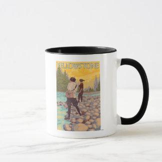 Women Fly Fishing - Yellowstone National Park Mug