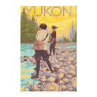 Women Fly Fishing - Yukon, Alaska Canvas Print