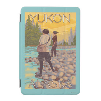Women Fly Fishing - Yukon, Alaska iPad Mini Cover