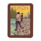 Women Fly Fishing - Yukon, Alaska Magnet