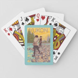 Women Fly Fishing - Yukon, Alaska Playing Cards