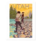 Women Fly FishingUtah Postcard