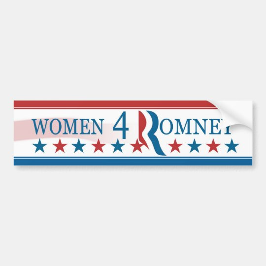 Women for (4) Romney Bumper Sticker