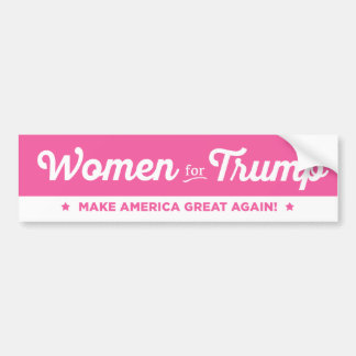 Women For Donald Trump 2016 Bumper Sticker