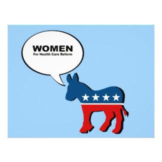 Women for health care reform full color flyer