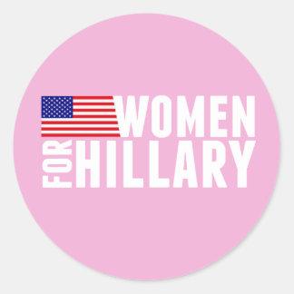 Women for Hillary Pink Classic Round Sticker