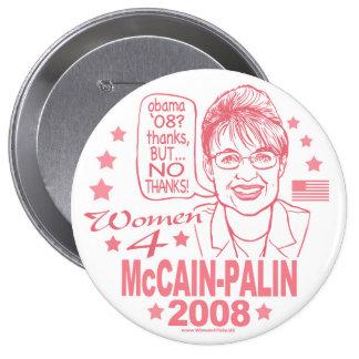Women for McCain Palin 2008 10 Cm Round Badge