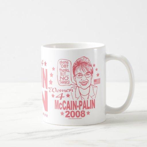 Women for McCain Palin 2008 Mugs
