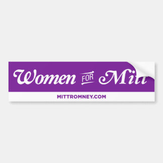 Women For Mitt Romney Bumper Sticker (Purple)