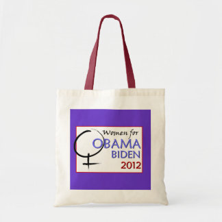 """Women for Obama-Biden"" tote Budget Tote Bag"