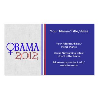 WOMEN FOR OBAMA BUSINESS CARDS