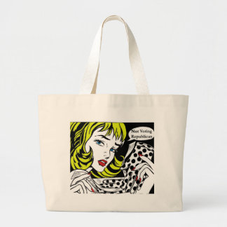 WOMEN FOR OBAMA NOT VOTING REPUBLICAN JUMBO TOTE BAG