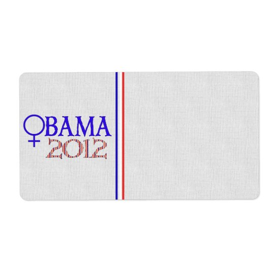 WOMEN FOR OBAMA SHIPPING LABEL