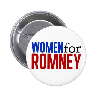 Women for Romney 6 Cm Round Badge