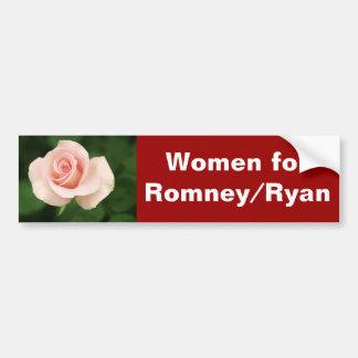 Women for Romney Ryan Bumper Sticker