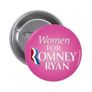 Women for Romney Ryan - pink 6 Cm Round Badge