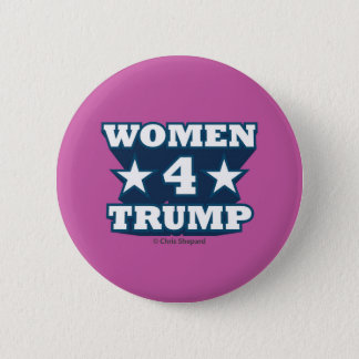 WOMEN FOR TRUMP! COOL 3D TEXT HOT PINK BOLD STRONG 6 CM ROUND BADGE