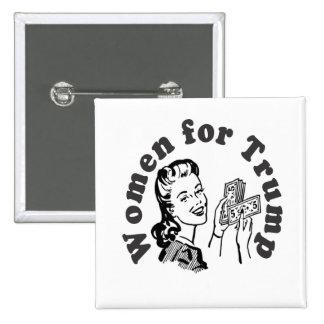 Women for Trump - Money Dollars Donald 15 Cm Square Badge
