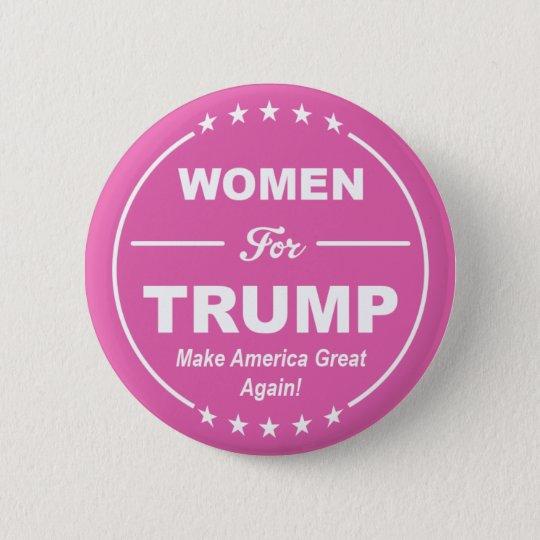 WOMEN FOR TRUMP! Pink Patriot! Girl Power! GOP USA 6 Cm Round Badge