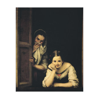 Women from Galicia at the Window, 1670 Canvas Print