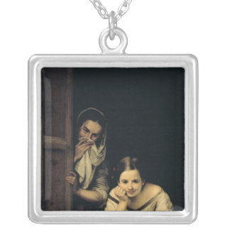 Women from Galicia at the Window, 1670 Silver Plated Necklace