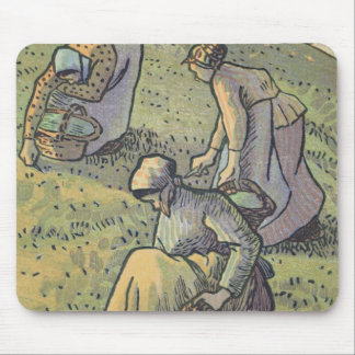 Women Gathering Mushrooms, from 'Travaux des Champ Mouse Mat