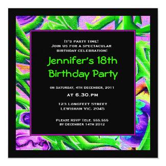 Women Graffiti Birthday Invitation