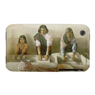 Women Grinding Corn, Pueblo of Laguna, c.1905 (col iPhone 3 Cases