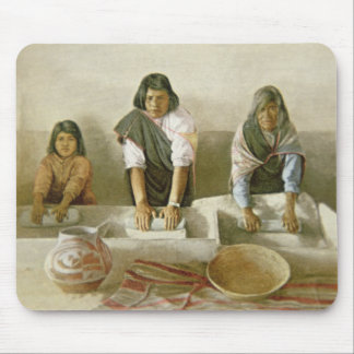 Women Grinding Corn, Pueblo of Laguna, c.1905 (col Mouse Pad
