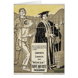 Women Have No Vote Card