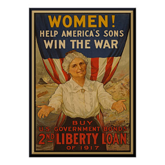 Women Help America's Son Vintage War Bonds Posters