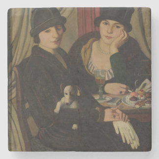 Women in a Cafe, c.1924 Stone Coaster