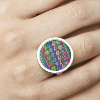 Women in a row Colorful Sensual Intimate NVN626 Photo Ring