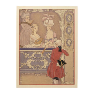 Women in a Theater Box, illustration from 'Les Lia Wood Wall Art