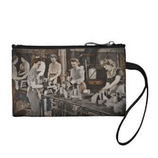 Women in an Assembly Line Coin Wallet