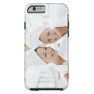 Women in bathrobes drinking tea at spa tough iPhone 6 case