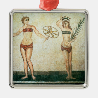 Women in 'bikinis' christmas ornament