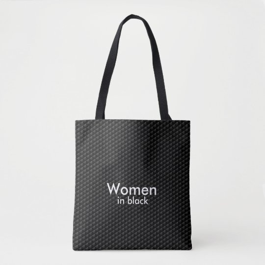 Women In Black Carbon Fibre Design Tote Bag