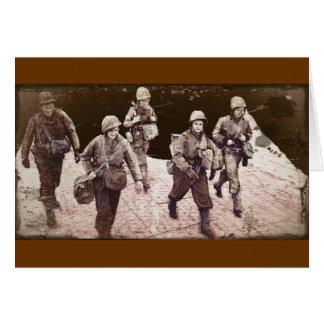 Women in Combat Gear WWII Card