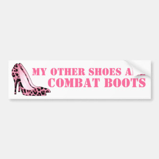 Women in Combat Stiletto Heels Bumper Sticker