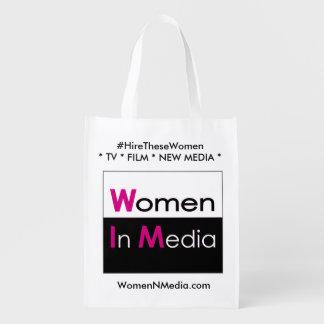 Women In Media EZ fold shopping bag - White