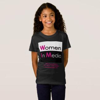 Women In Media Tee Shirt Black for Grrrrrls