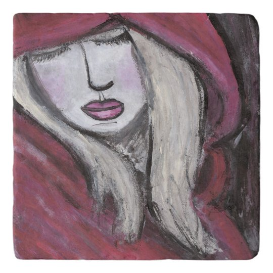 Women in Red Trivet (You can Customise)