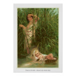 Women In The Bible - Miriam & Her Brother Moses Poster
