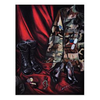 Women in the Military / Veteran Appreciation Art Postcard