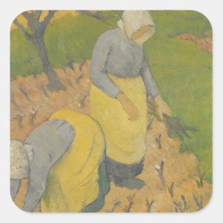 Women in the Vineyard, 1890 Square Sticker