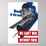 Women In The War -- WWII Propaganda Poster