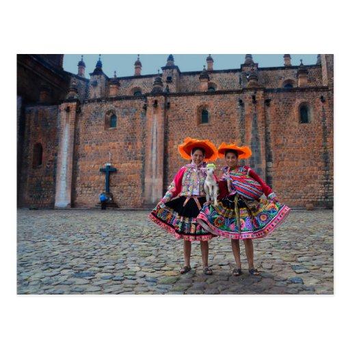 Women in Traditional Clothing, Cusco, Peru Postcard