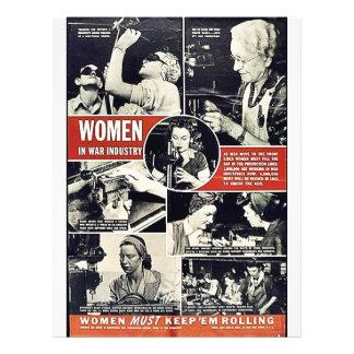 Women In War Industry Personalized Flyer