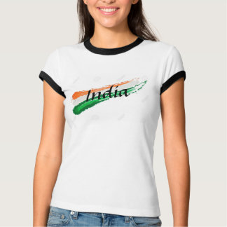 Women india flag T-shirt
